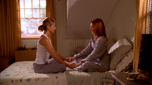 same time same place -buffy-and-willow